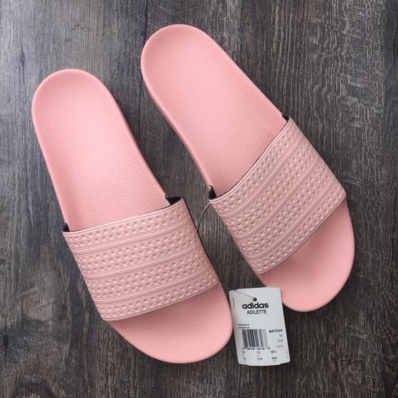 063dd40368cc Rare Men s Adidas Adilette Sandals Pink Coral Sz13